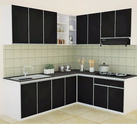 Jual Kitchen Set Aluminium Warna Putih