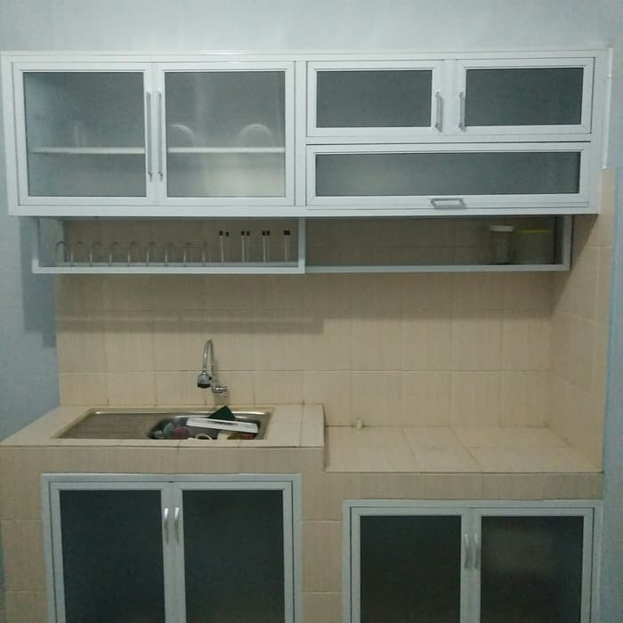 Harga Kitchen Set Aluminium Warna Coklat